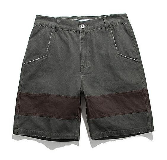 找到自己品牌 時尚潮流 男 撞色 拼接 短褲 戶外休閒褲 運動短褲