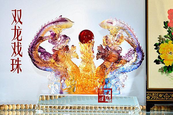 平安吉祥飾品擺設雙龍戲珠