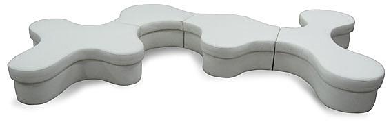 MS70-CSL-325-T   組合沙發-變形蟲 -透氣皮-單張