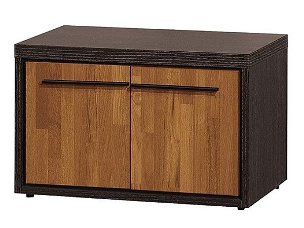 【森可家居】黑格比2尺坐鞋櫃 8ZX693-6 雙色