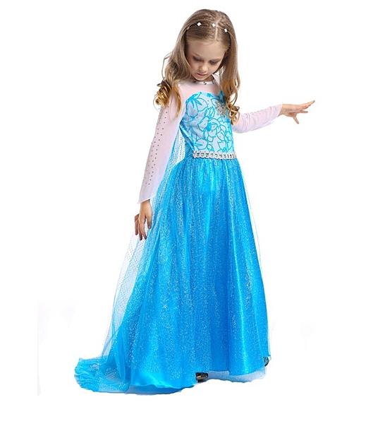 衣童趣(•‿•)冰雪奇緣 艾莎elsa女童萬聖節 連身裙禮服 公主洋裝 披風可拆 現貨 舞衣表演服