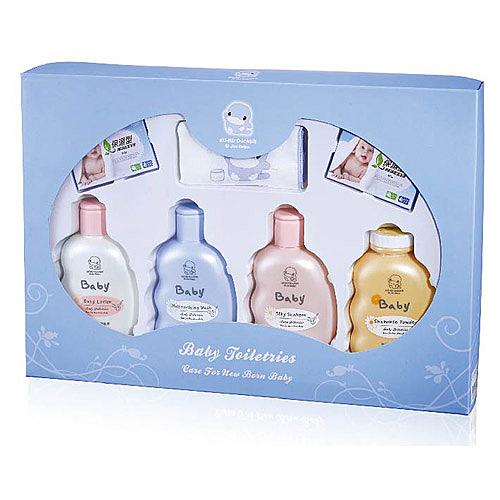 【奇買親子購物網】酷咕鴨KU.KU. 嬰兒沐浴禮盒/附提袋 (彌月禮盒)