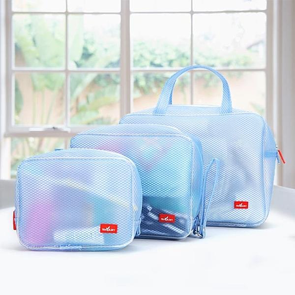 旅行防水洗漱包男士戶外出差用品便攜收納大容量洗浴透明化妝包女 快速出貨