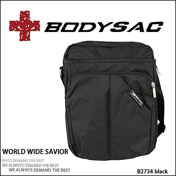 Outdoor Style 機能性 潮流休閒 大側背包 黑色 AMINAH~【BODYSAC B2734】
