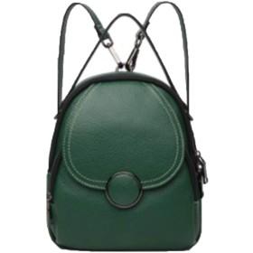 バックパックレザーバックパックレディースバックパック多機能バックパック韓国ファッションハンドバッグ-green