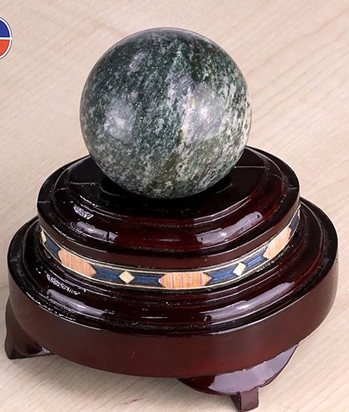 [協貿國際]天然墨玉圓球保健球手球單顆價(不含底座)