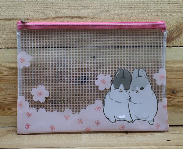 ㄇㄚˊ幾B5防水拉鍊袋(櫻花) ㄇㄚˊ幾兔 ㄇㄚˊ吉兔 麻幾兔 麻吉兔 【金玉堂文具】