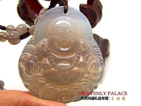 天然瑪瑙佛像 彌勒佛像保平安
