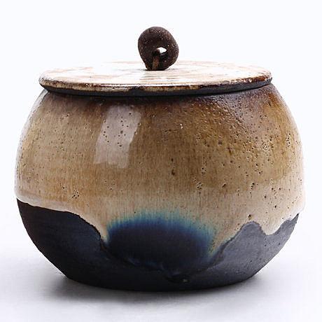 純手工粗陶茶葉罐