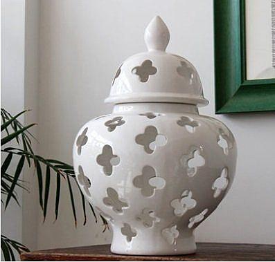十字陶瓷大肚罐零食罐裝飾罐陶瓷擺件