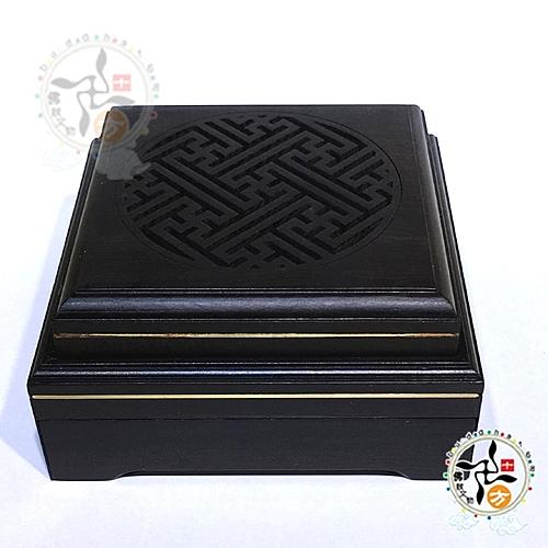 典雅精緻 黑檀方形 香爐{抽屜}錦盒【十方佛教文物】