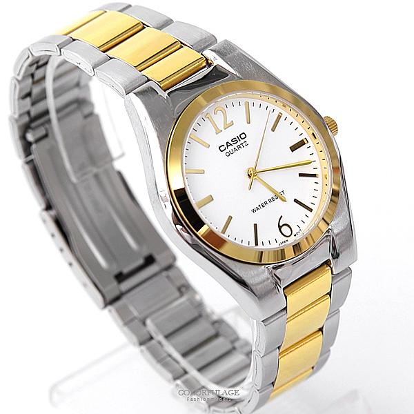 CASIO卡西歐 紳士品味金色不鏽鋼錶 經典大方 送禮首選【NEC104】原廠公司貨