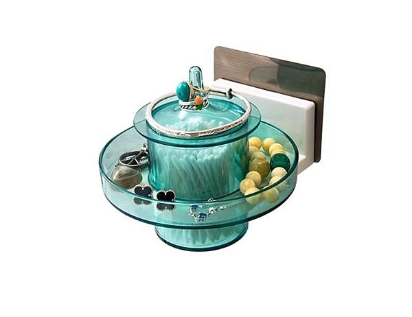 首飾盒二用5205雙慶 簡約透明大容量首飾盒手飾品桌面收納盒壁掛式耳釘耳環整理盒5205
