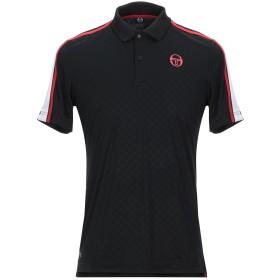 《セール開催中》SERGIO TACCHINI メンズ ポロシャツ ブラック L 100% ポリエステル