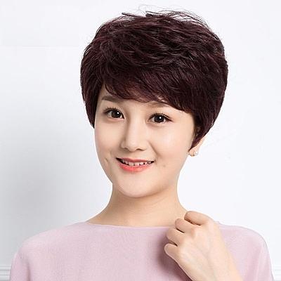 短假髮(真髮)-輕薄蓬鬆捲髮氣質女假髮3色73uu19【時尚巴黎】