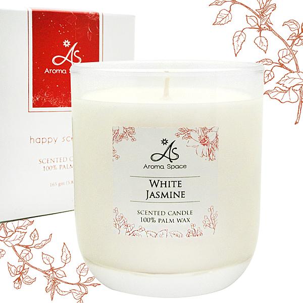 ThaiScent泰香 白色茉莉香氛蠟燭165g