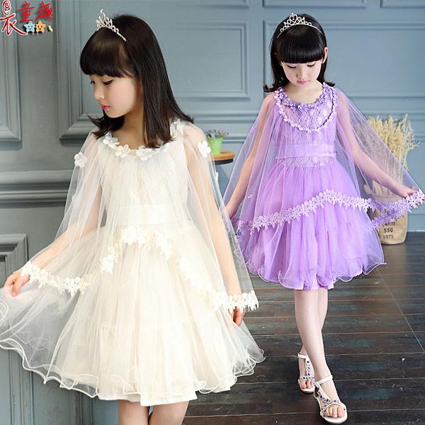 衣童趣 ♥中大女童連身澎澎裙  表演正式場合 花童洋裝 畢業連身裙
