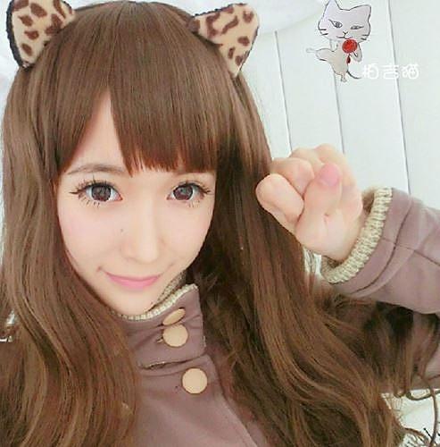 立體豹紋貓耳朵髮夾 BB夾 造型頭飾 29元 豹紋一款