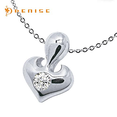 特價項鍊 925純銀小愛心-銀飾情人禮物 / 贈白鋼鍊