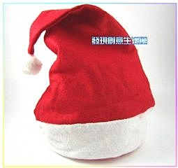聖誕節 聖誕帽 耶誕節 聖誕節交換禮物(紅色)-艾發現