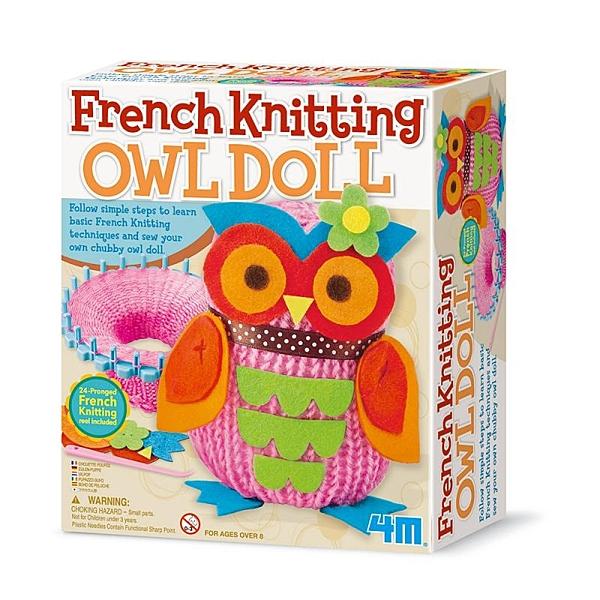 【4M】02764 美勞創意-貓頭鷹娃娃 French Knitting Owl Doll