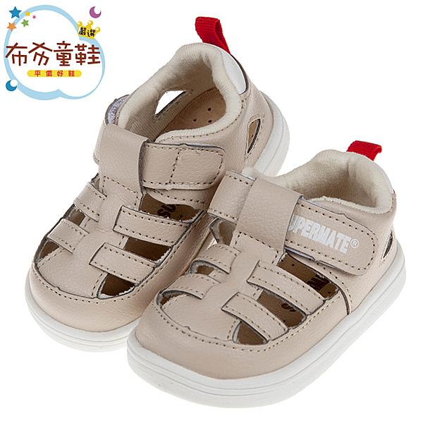 《布布童鞋》BABYVIEW頂級皮質米色涼爽寶寶護趾涼鞋(14~16.5公分) [ O9K37AW ]