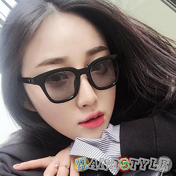 黑框多彩平板鏡片造型眼鏡【075921】韓飾代【HandStyle】(附眼鏡盒)