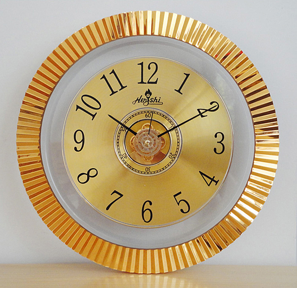 12英寸時尚潮流創意金屬質感掛鐘表客廳靜音時鐘石英鐘表【八折搶購】