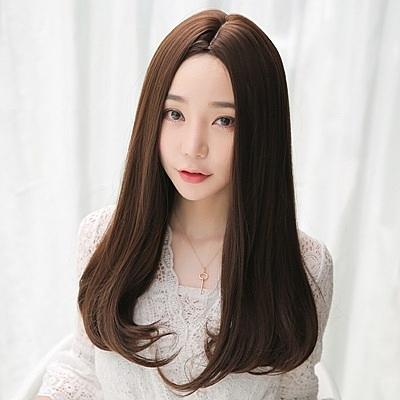 長假髮(整頂)-中分內彎及胸長直髮女假髮73rr50【巴黎精品】