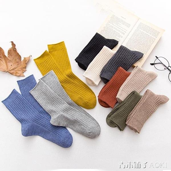 堆堆襪女純棉襪子女中筒襪韓國可愛長襪時尚百搭薄款日系女襪 青木鋪子
