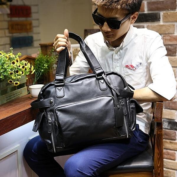 男包休閒側背包斜背包手提包男士皮包背包商務旅行包潮大容量新款 黛尼時尚精品