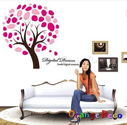 壁貼【橘果設計】戀愛之樹 DIY組合壁貼/牆貼/壁紙/客廳臥室浴室幼稚園室內設計裝潢