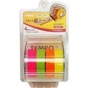 TEMPO  4色螢光紙膠帶(SN-654)