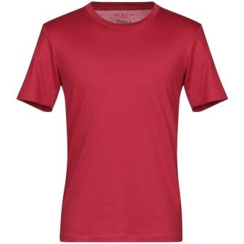 《セール開催中》SELECTED HOMME メンズ T シャツ ボルドー M ピマコットン 100%
