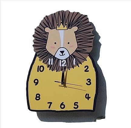獅子靜音卡通掛鐘客廳臥室鐘錶可愛兒童房鐘錶