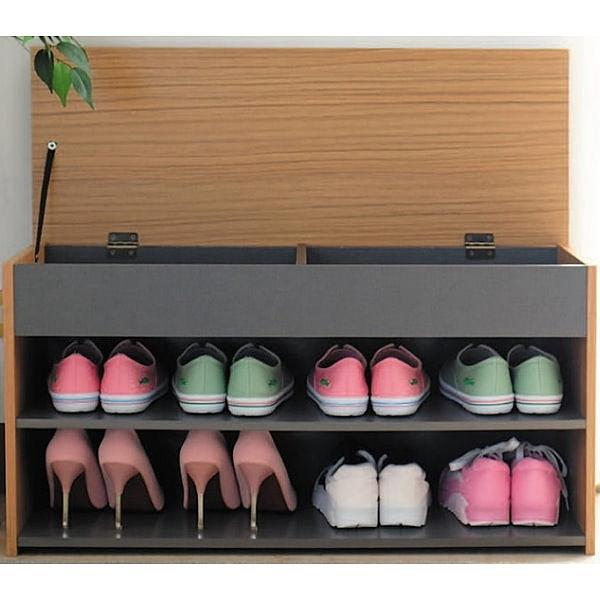 鞋櫃 CV-522-3 掀蓋式收納穿鞋椅【大眾家居舘】