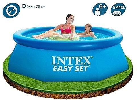 [衣林時尚] INTEX 超大厚膠游泳池 244cm x 76cm  56970 28110 附修補片 + 打氣機