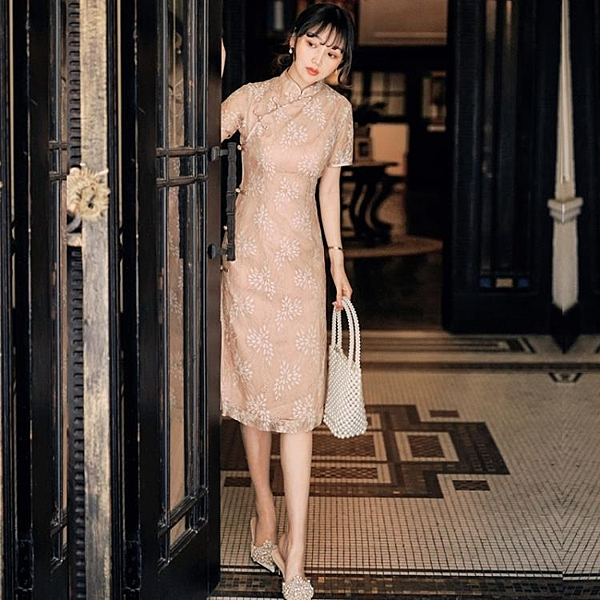旗袍 新式旗袍 年輕款 日常 改良版 連衣裙 夏2020中國風 法式復古裙