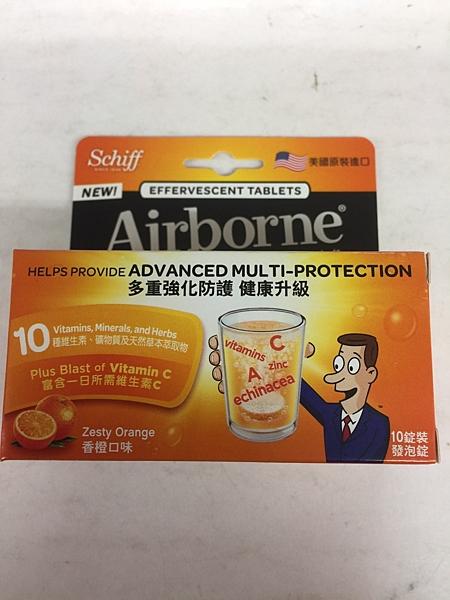 Airborne 維生素ACE + 紫錐菊 + 人參發泡錠 10錠(瓶)*27瓶