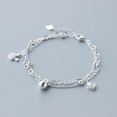 手鍊 925純銀鑲鑽-氣質兔子生日情人節禮物女手環73dp45【時尚巴黎】