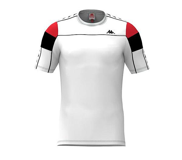 KAPPA義大利 時尚222 BANDA SLIM T-SHIRT 型男運動短袖衫白 303WBS0973