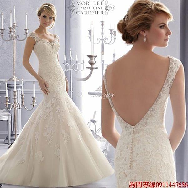 (45 Design)  訂做款式7天到貨 專業訂製款 大尺碼 婚紗禮服 表演 走秀 主持訂婚親家母
