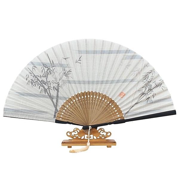 棉布扇折扇古典扇子和風古風禮品扇特色夏季扇 萬客居