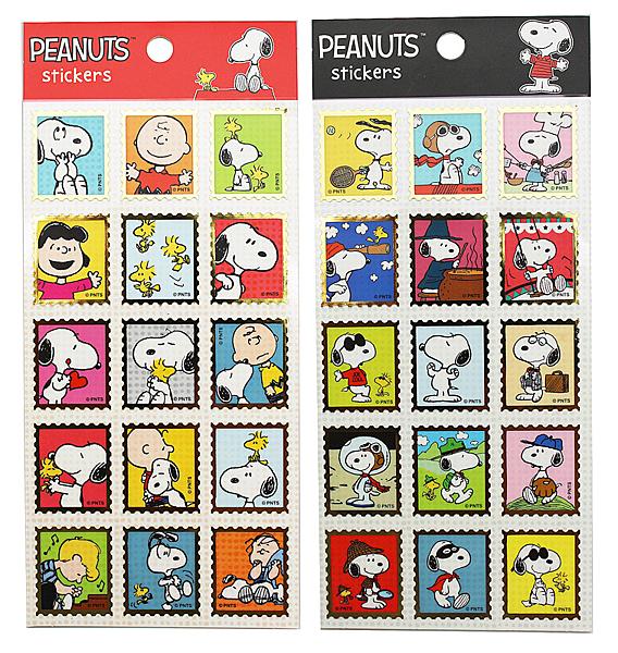 【卡漫城】 Snoopy 郵票造型 貼紙 2入 ㊣版 史努比 台灣製 史奴比 裝飾 糊塗塔克 花生漫畫 Peanuts
