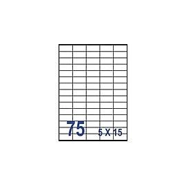 裕德  U2610電腦列印標籤75格42X19.5mm-20張入 / 包