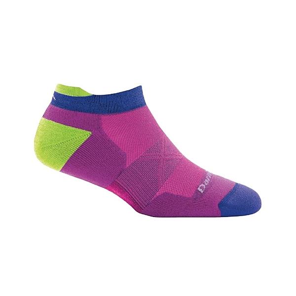 DarnTough Vertex No Show Tab Ultra-Light Cushion 1018 女款跑步透氣羊毛襪 紫色