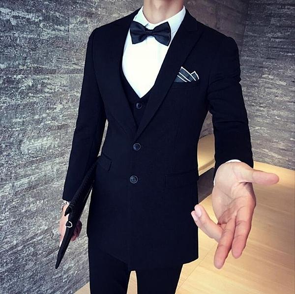 找到自己品牌 韓國男 抗皺面料 西裝外套穿搭 三件式套裝 成套西裝 西裝修身 外套+背心+褲子