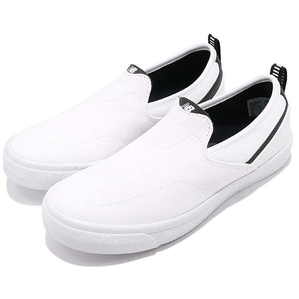 New Balance 休閒鞋 101 系列 白 黑 無鞋帶 懶人鞋 情侶鞋 小白鞋 【ACS】 AM101WHTD