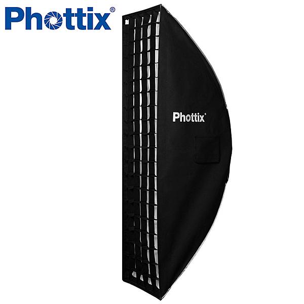 ◎相機專家◎ Phottix 新式二合一 帶網格柔光箱 長方形 35x140cm 輕量無影罩 蜂巢 公司貨 82617