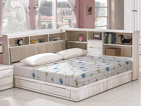 床架 QW-011-3A 瑪奇朵5尺雙人床 (床頭+床底)(不含床墊) 【大眾家居舘】